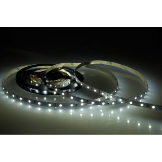 5 Meter LED Strip 12V 3528 Kaltweiss 6000K 4,8W & 60 Leds/M IP63