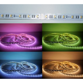 5 Meter LED Strip 24V 5050 RGBW Warmweiss (4 in 1 Chip) 19W & 60 Leds/M IP63