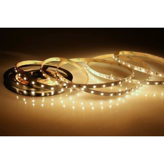 5 Meter LED Strip 24V 3528 Warmweiss 2900K 4,8W & 60 Leds/M IP20