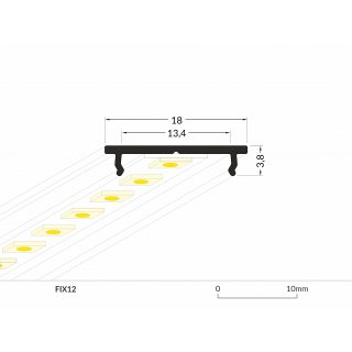 2 Meter LED Aluprofil Simple Cooling (Rohaluminium)